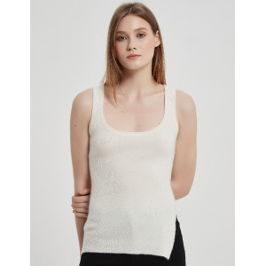 Chinese Leading Women Recycled Cashmere Tank Supplier