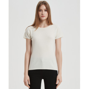 Wholesale Women Recycled Cashmere Tshirt