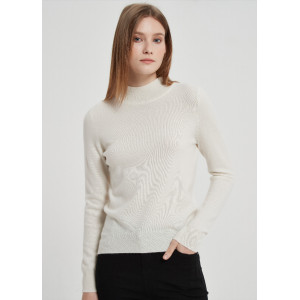 Wholesale Women Recycled Cashmere Highneck Pullover