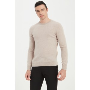 Wholesale High Quality Men's Machine Washable Cashmere Round Neck Pullover Sweater