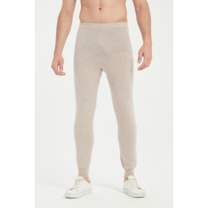 Wholesale High Quality OEM Men's Machine Washable Cashmere Leggings For Fall Winter From China