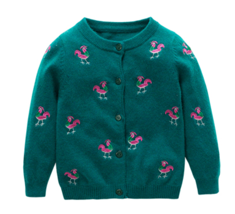 Girl Hand Embroidery Sweater