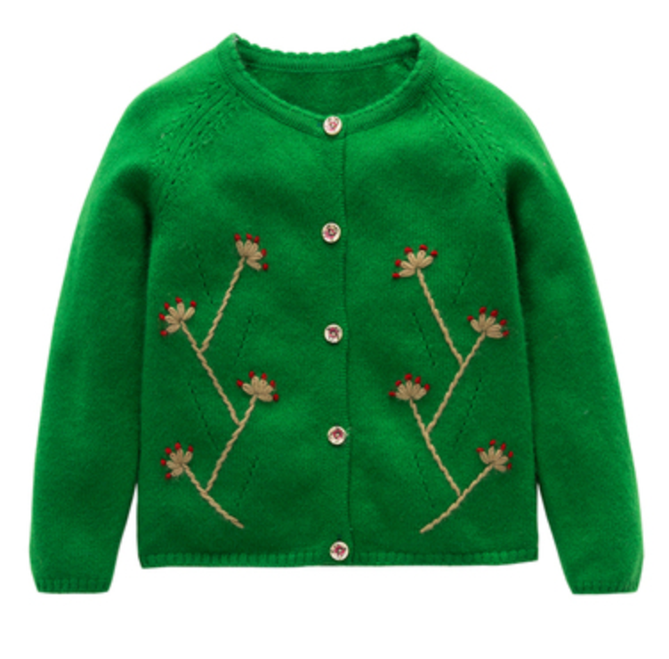 Kid Girl Hand Embroidery Sweater