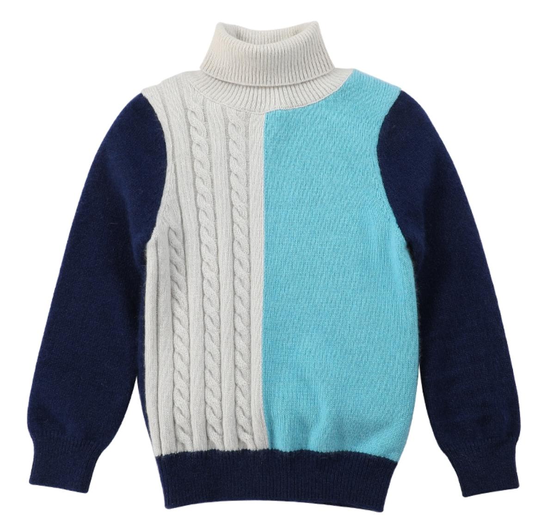 jersey con estampado de cachemir y cuello alto