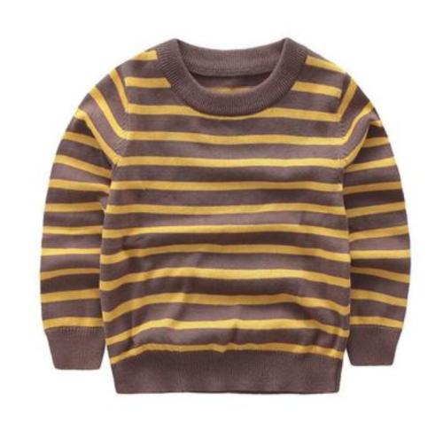 pull bébé cachemire en laine avec bande bicolore