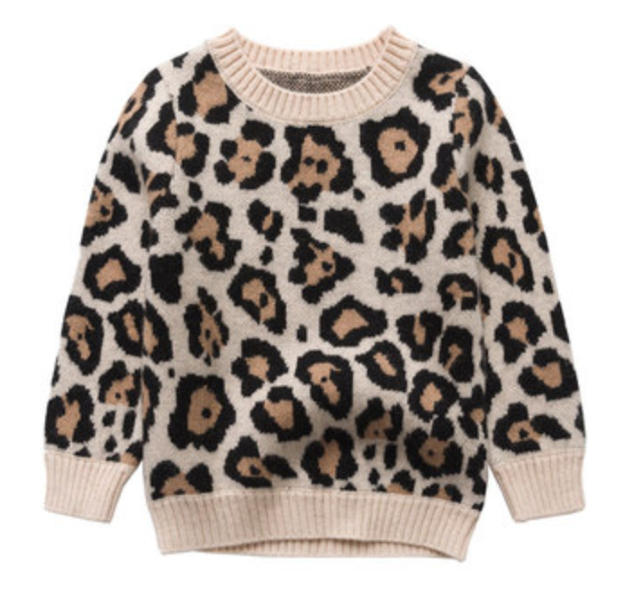 jersey de cachemira con estampado de leopardo
