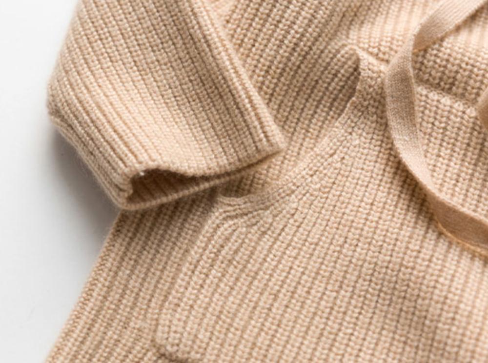 Sweat à capuche en cachemire pour fille avec toucher extra fin ultra doux