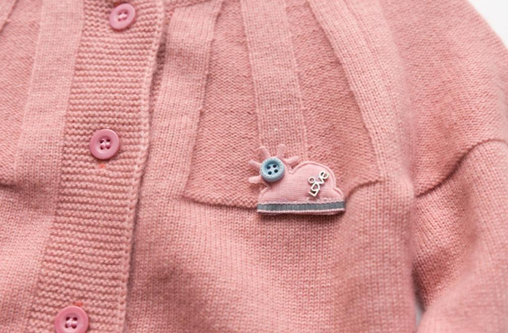 suéter de cachemira de costilla especial de color rosa linda chica
