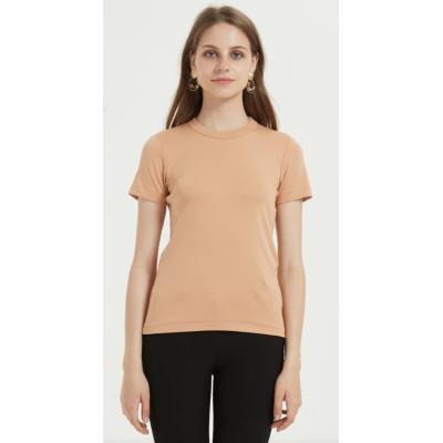 camiseta de mujer de nuevo diseño con algodón supima