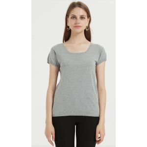 neues Design Damen T-Shirt mit Leinen Baumwollgarn
