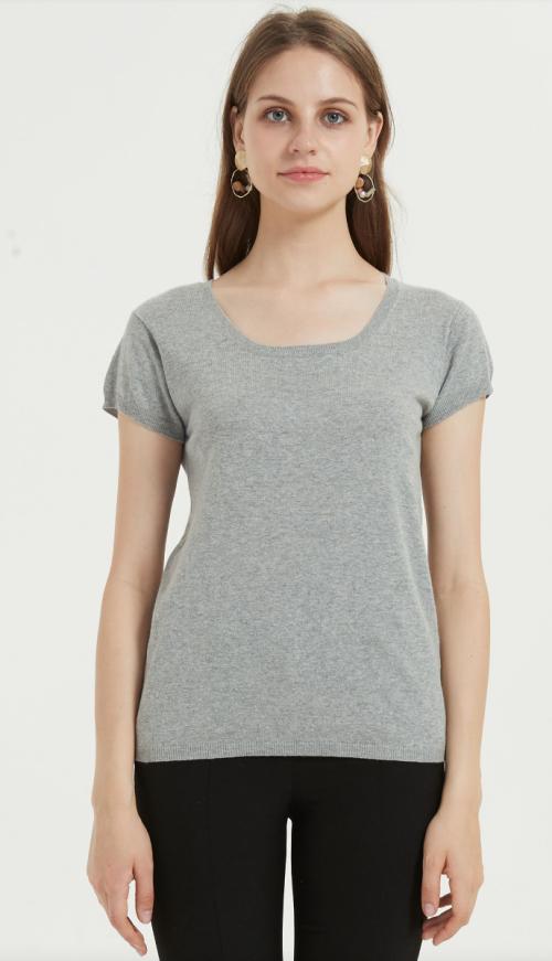 nueva camiseta de mujer de diseño con hilo de algodón de lino
