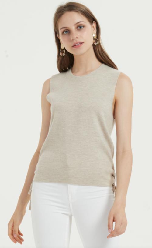 camiseta ligera de seda de cachemira para uso diario