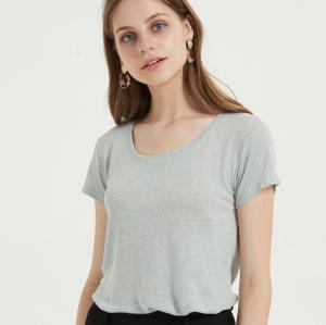 camiseta de mujer de nuevo diseño con tejido modal de algodón