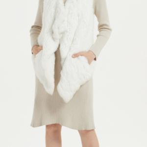 suéter de mujer de cachemir puro de moda con color marfil
