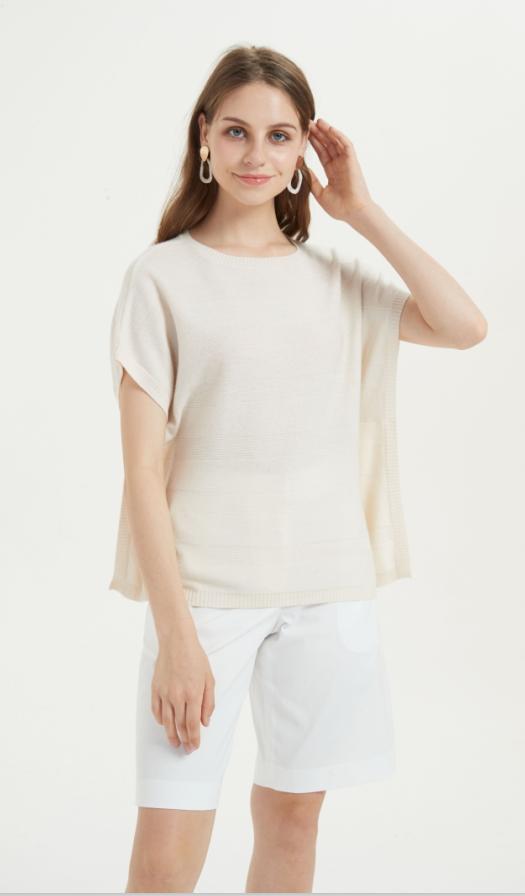 camiseta de seda de cachemir