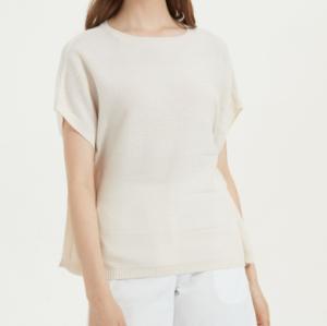 joli t-shirt en pur cachemire à manches courtes pour l'été