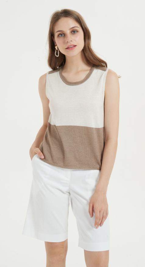 t-shirt léger en soie de cachemire pour l'été