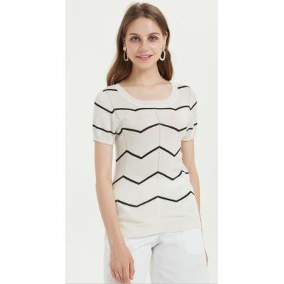 camiseta de mujer de seda de cachemira para el verano
