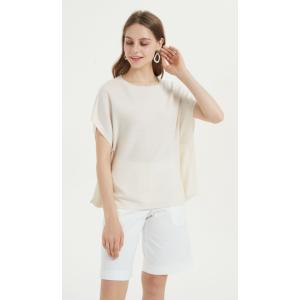 Leichtes Damen-T-Shirt aus Kaschmirseide für den täglichen Gebrauch