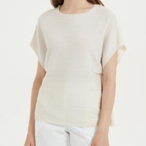 camiseta ligera de seda de cachemira para mujer para uso diario