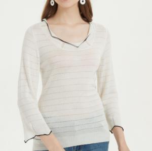 nouveau design t-shirt en soie de cachemire pour femme au quotidien