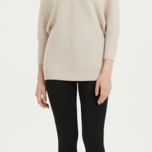 bonito suéter de mujer de cachemir puro con color natural