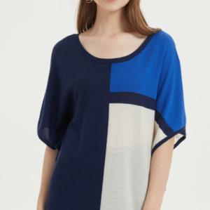 joli tshirt oversize en soie de cachemire pour femmes avec plusieurs couleurs