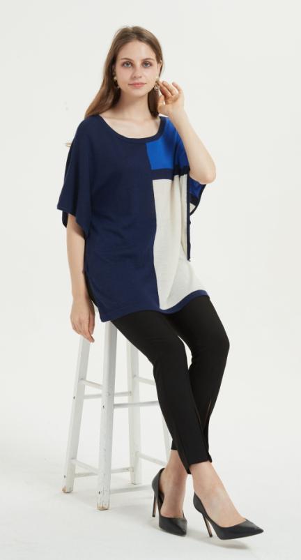 bonita camiseta de seda de cachemir de gran tamaño con varios colores