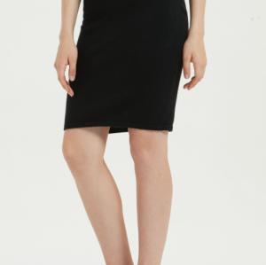 nuevo diseño puro vestido de mujer de cachemir con color negro