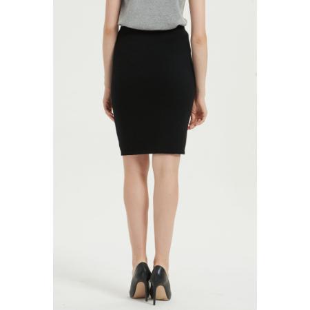 neues Design reines Kaschmir Frauenkleid mit schwarzer Farbe