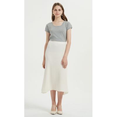 vestido de mujer de cachemira pura de estilo corto suave con color liso
