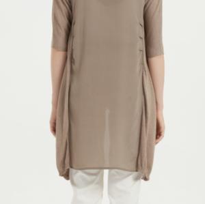 cárdigan largo de seda de cachemira para mujer con color liso