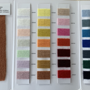 haute qualité 1 / 28nm 10% mohair 12% laine 26% acrylique 52% nylon mélange fil fantaisie
