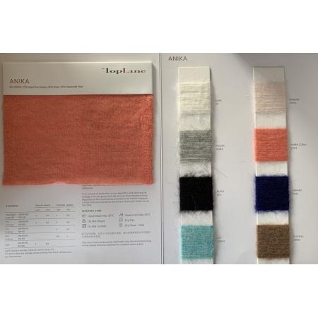 Nachhaltiger Luxus 27% Superfeines Alpaka 28% Wolle 45% Polyamidfaser Fancy Yarn Nm13000