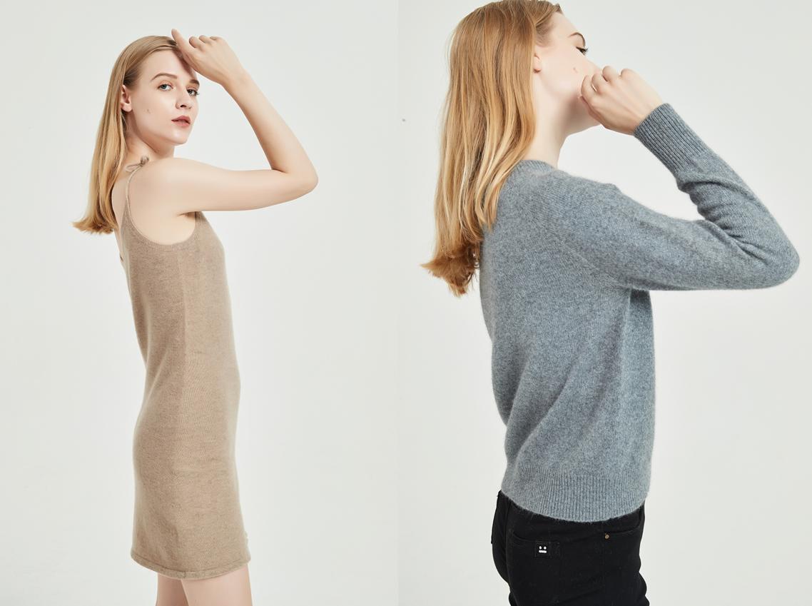 suéter de cachemira sin costuras ewsca