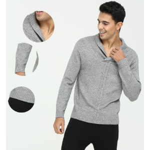 OEM design high end men's pure cashmere Vneck pullover knitwear with cheap price China manufacturer
