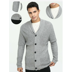 Wholesale new design men's pure cashmere cardigan knitwear for fall winter China manufacturer