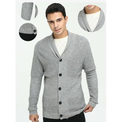Cardigan pur cachemire pour homme avec motifs multiples pour l'automne-hiver