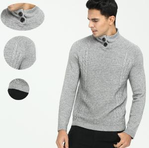 Jersey de cuello alto de cachemir puro para hombre para otoño invierno