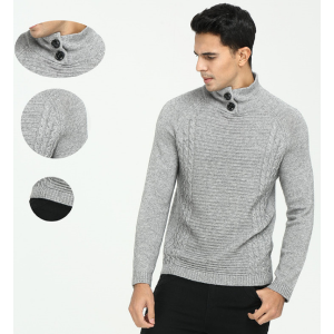 OEM China factory high quality men's pure cashmere turtleneck pullover knitwear with cheap price