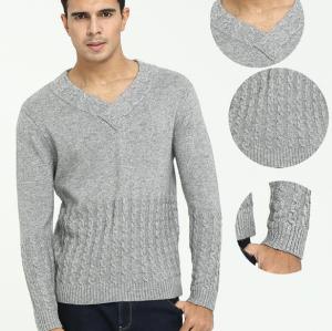 Pure Cashmere Vneck para hombre con tejido de punto completo para otoño invierno