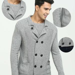 Cardigan pur manteau en cachemire pour homme automne-hiver