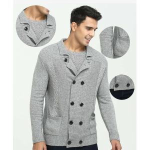 Wholesale new design men's pure cashmere coat cardigan sweater for fall winter China factorty
