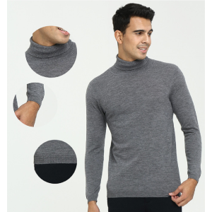 Custom design men's pure cshmere basic turtleneck pullover sweater for daily wear China manufacturer
