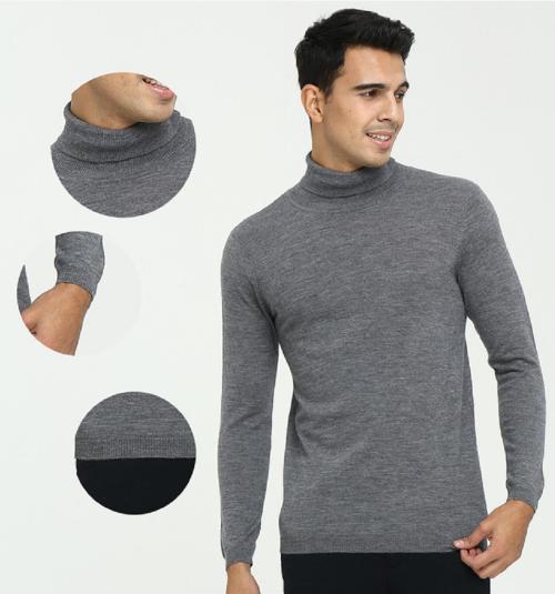 Jersey de cuello alto de cachemir puro para hombres para uso diario