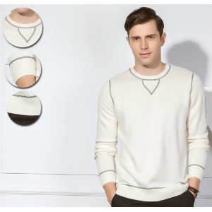 ODM factory high quality men's pure cashmere basic roundneck pullover knitwear with cheap price