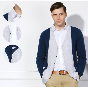 Wholesale original design men's pure cashmere cardigan fall winter with cheap price China supplier