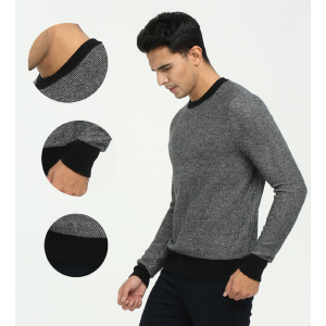 OEM factory high quality men's pure cashmere roundneck pullover sweater wholesale China manufacturer