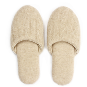 wholesale high-end lounge non-slip luxury fine wool cashmere slippers