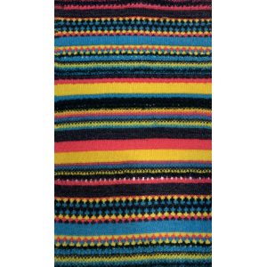 Knitted Cashmere Pattern in pure Cashmere Yarn with new Stripes Design